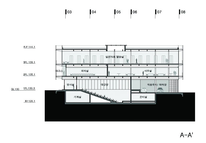 Section through Auditorium